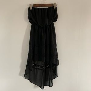 High-low black dress size Small